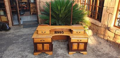 Yellowood and Imbuia Dressing Table - no mirror (1470x430x760)