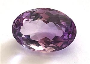 CERTIFIED NATURAL AMETHYST OVAL CUT 24.2160 CT, EYE CLEAN