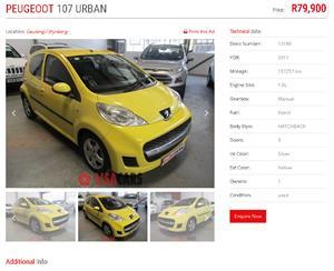 2011 Peugeot 107 1.0 Urban