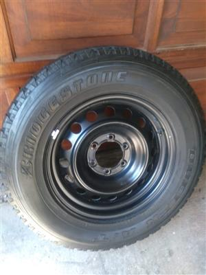 Toyota Hilux 17 inch Steel Spare Wheel with Bridgestone Tyre R1500