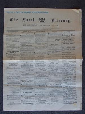 The Natal Mercury - Coast of Dreams Souvenir Edition - 1852