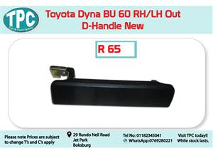 Toyota Dyna BU 60 RH/LH Out Door Handle New for Sale at TPC