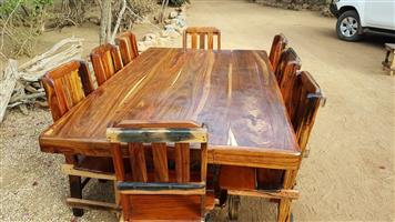 8 Seater dining room table set sleeper wood