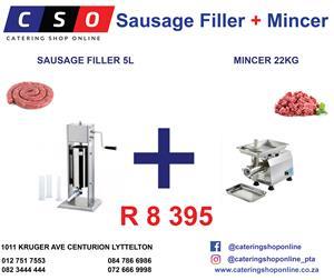 Sausage Filler & Mincer Combo
