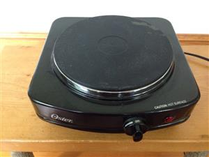 Oster  Single Burner Black Electric Household Table Stove Hot Plate