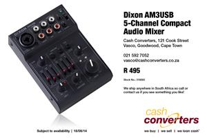 Dixon AM3USB 5-Channel Compact Audio Mixer