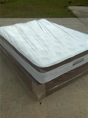 New Restonic Double Size Eurotop Base and Mattress Set
