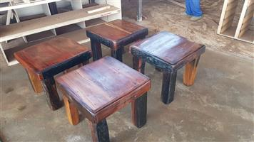 Sleeper wood side tables