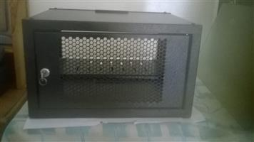 2U network cabinet / enclosure. Black with perforated door. Suitable for DVR, DVD, AVR etc