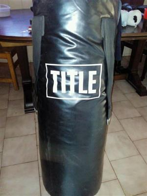 Black title punching bag