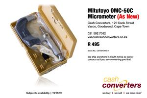 Used, Mitutoyo OMC-50C Micrometer (As New) for sale  Parow