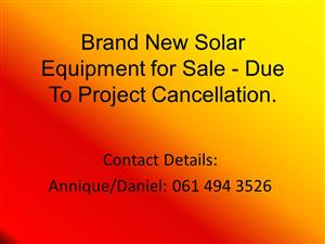 Brand New Solar Equipment