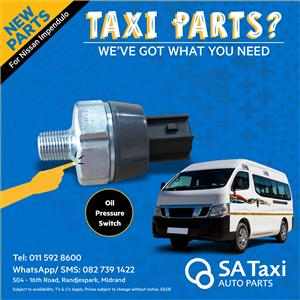 NEW Oil Pressure Switch suitable for Nissan NV350 Impendulo - SA Taxi Auto Parts quality spares