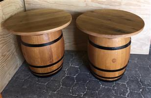 Wine Barrel with top - Stained