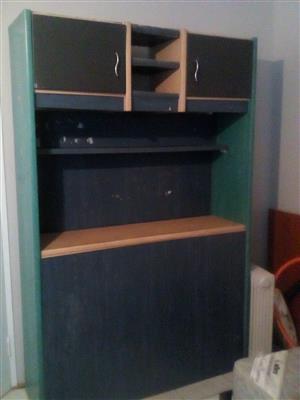 Single bed headboard/cabinet/storage unit