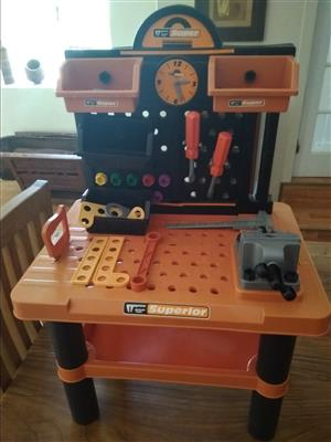 Kids Workbench with tools