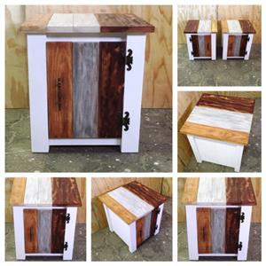 Night stand Cottage series 515 with door - Multicolour