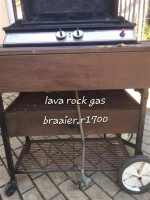 Lava Rock gas braaier for sale