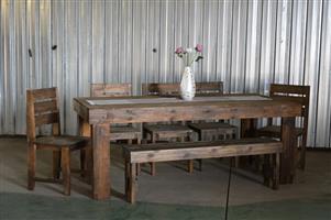 8 Seater met 5x stoele en 1x Bankie