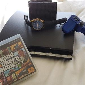 ps3+police wallet+DK watch+1game+controller