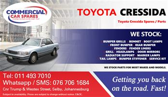 Toyota Cressida 92- parts and spares for sale