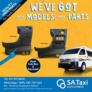 Coin Box and Surround suitable for Toyota Quantum - SA Taxi Auto Parts quality used spares
