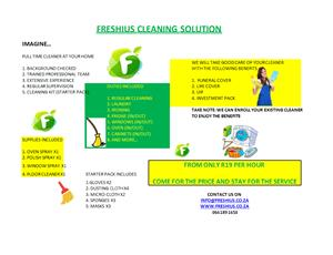 FRESHIUS CLEANING SERVICE