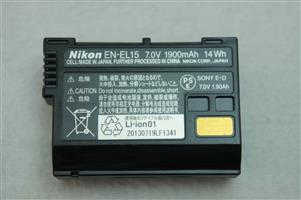 Nikon EN-EL15 battery, compatible with Nikon 1 V1, D7100, D750, D7000, D7200, D810, D610, D800, D600, D800e, D810a, in excellent and 100% working condition, Please call or Whatsapp Ben Mans during Office hours, Mo-Fr 8-5PM and Sat 8-10am on 0829312129 , Sorry not Negotiable