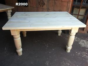 6 Seater Farmstyle Table (1500x1000x760)