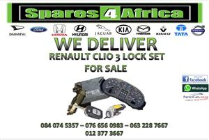 RENAULT CLIO 3 LOCK SET FOR SALE