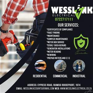 Electrical Contractors Midrand Call 0722717111 - Wesslink Electrical (Pty) Ltd Need an electrical contractor in Fourways call Wesslink Electrical (Pty) Ltd