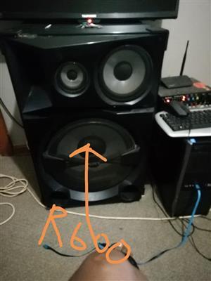 Swart speaker te koop