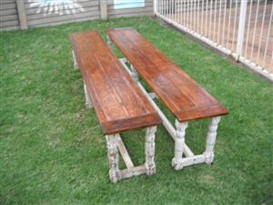 2 Patio Benches