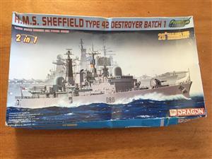 Dragon 1/700 H.M.S. Sheffield Type 42 Destroyer Batch 1 - 25th Anniversary 2-in-1