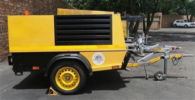 Kaeser 200cfm Mobile Diesel Compressor - 1627HRS