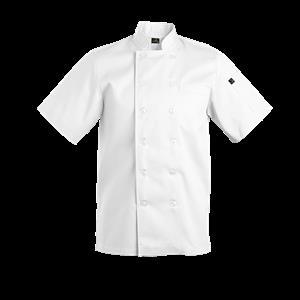 Savona Short Sleeve Chef Jacket - White