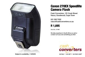 Canon 270EX Speedlite Camera Flash