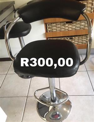 Black leather bar chairs