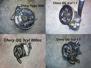 Chery QQ and Tiggo power steering pumps for sale.