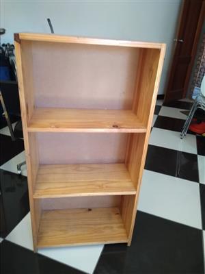 Three Shelf wooden bookcase
