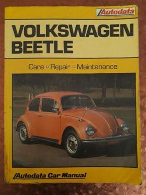 Volkswagen Beetle - Autodata - Car Manual - 1968-78.