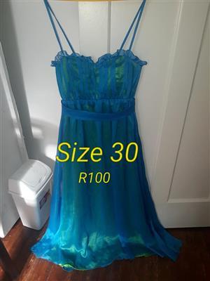 Size 30 blue summer dress for sale