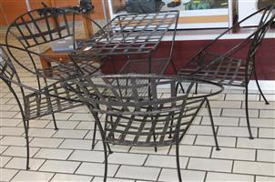 5 pce iron garden set S031460I #Rosettenvillepawnshop