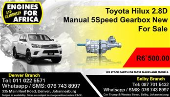 Toyota Hilux 2.8D Manual 5Speed Gearbox New For Sale.
