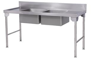 DOUBLE BOWL-PREP SINK 1700mm-DBPS17-9430