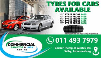 TYRES FOR CARS AVAILABLE