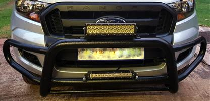 Ford Ranger Bull bar, Roll bar with cover, Side steps and 2 bar lights