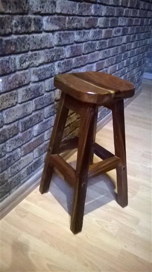 Sleeper wood nook stools For Sale