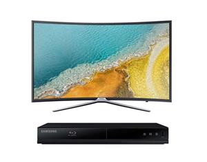 "Samsung 49"" Curved LED TV and Blu-Ray Player Bundle"
