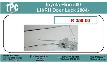 Toyota Hino 500 LH/RH Door Lock 2004- For Sale.